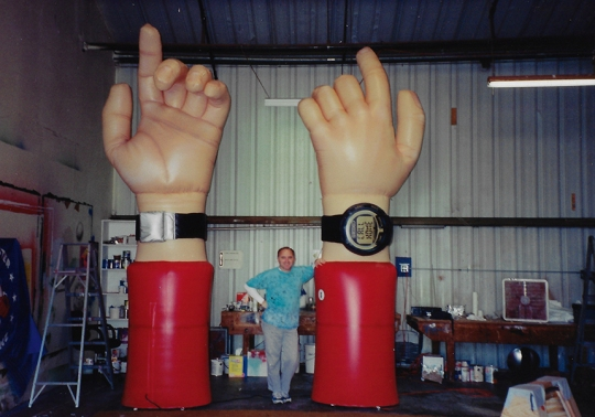 A giant inflatable hand!