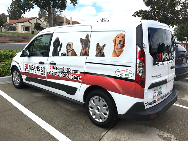 A partial van wrap